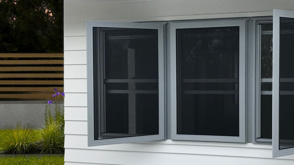 Hinged Security screen windows